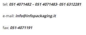 Contattaci ai seguenti numeri se vuoi fare pubblicità sul portale infopackaging.it