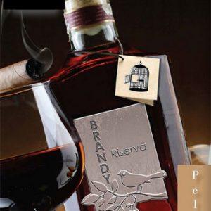 Etichette in peltro per packaging di bottiglia brandy di alta qualità