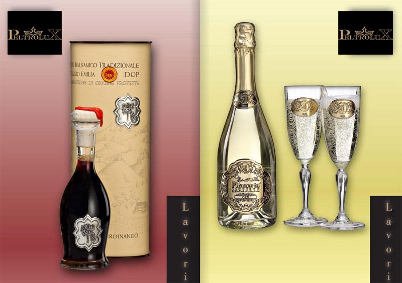 Peltrolux produzione etichette di lusso per bottiglie