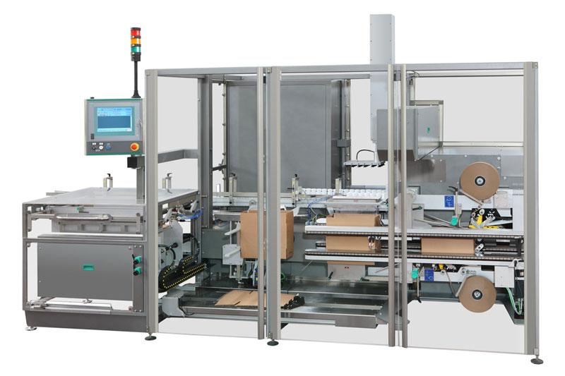 cartopallettizzatore monoblocco automatico per confezionamento in cartone e successiva pallettizzazione: MCV850 - MCP840
