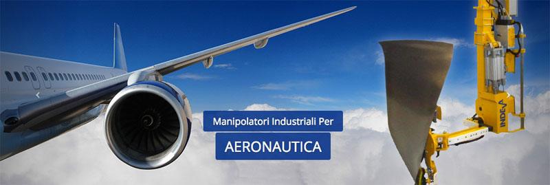 Manipolatori ergonomici per industria aeronautica Scaglia Indeva