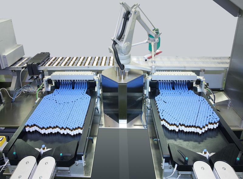 Robot alimentazione fiale e siringhe: Robomaster