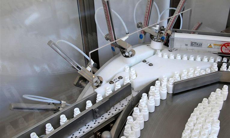Tavolo soffiante per imballaggio liquidi farmaceutici - Marchesini Group