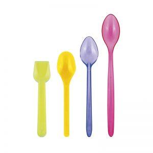 cucchiaini e palette in plastica