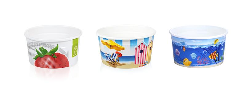 coppe da gelato in cartoncino