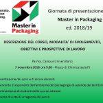 Master in Packaging 2018-2019 UNIPR : la presentazione ufficiale