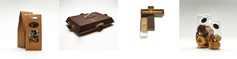 scatole per biscotti e sacchetti