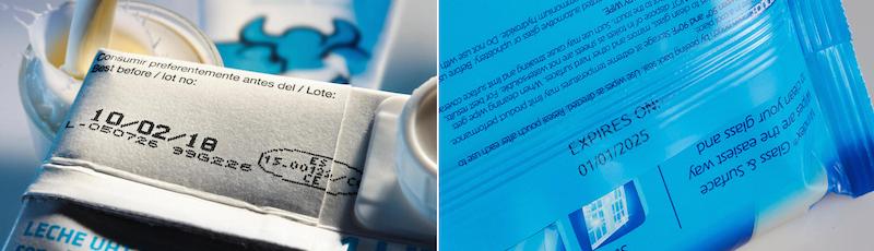 marcatura su cartone e plastica per prodotti industriali