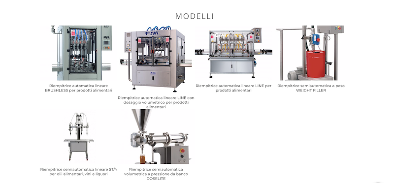 Riempitrici alimentari lineari CMI Industries