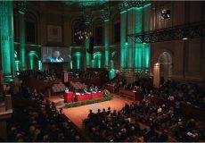 Aula Magna di Santa Lucia, Bologna. La cerimonia di conferimento della Laurea ad Honorem