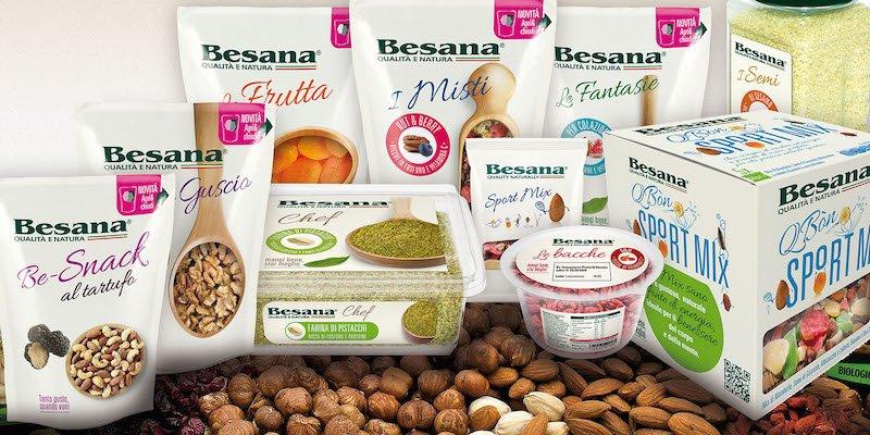 packaging 100% compoistabile e riciclabile per i prodotti Besana