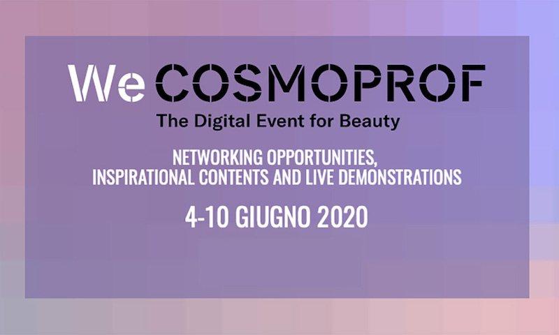 WeCosmoprof il format digitale in attesa della 53esima edizione di Cosmoprrf