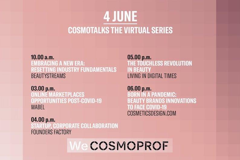 Cosmotalk virtual series programma 4 giugno