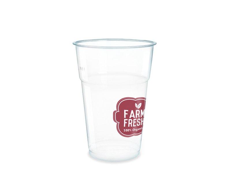 bicchiere in plastica trasparente personalizzabile