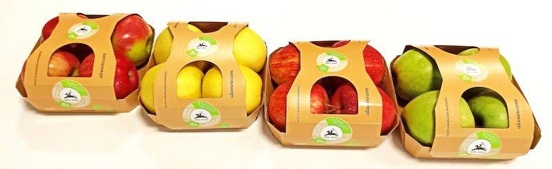 Nuovo pack in carta per le confezioni di mele Alce Nero