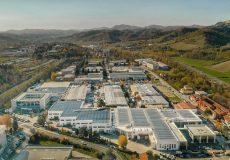 Vista aerea dell'Headquarters Marchesini Group con la nuova Beauty Division